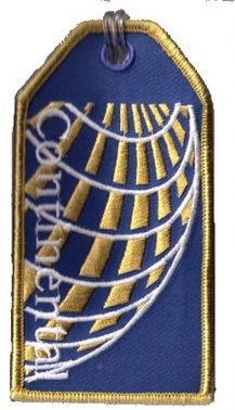 Continental Airlines Embroidered tag